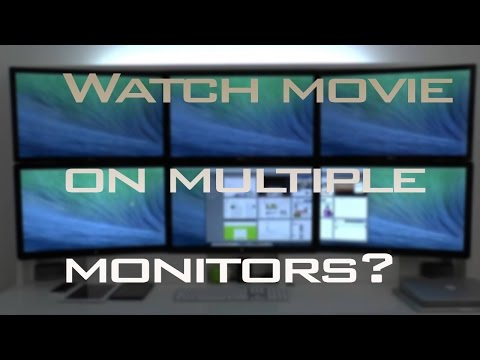 How To Watch Video/Movie On Multiple Monitors |Easy Way