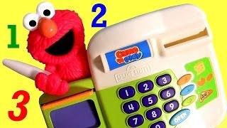 Elmo Cash Register Toy Sesame Street for Babies Toddlers - Caja Registradora De Elmo Plaza Sesamo