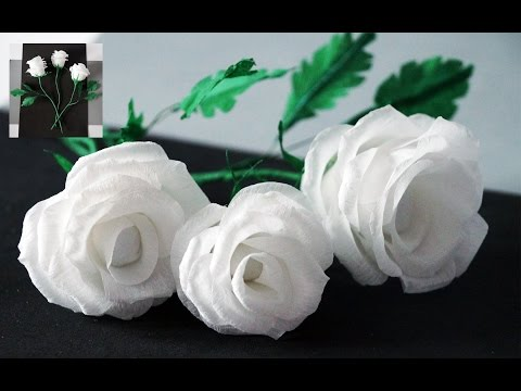 Flowers making | How to Make Rose Tissue Paper | Crepe paper flower making | Julia DIY