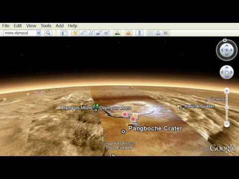 Google Earth 5 - 3D Mars!