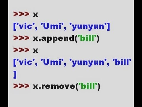 Python Lists and Tuples - append, remove, insert, tuple()