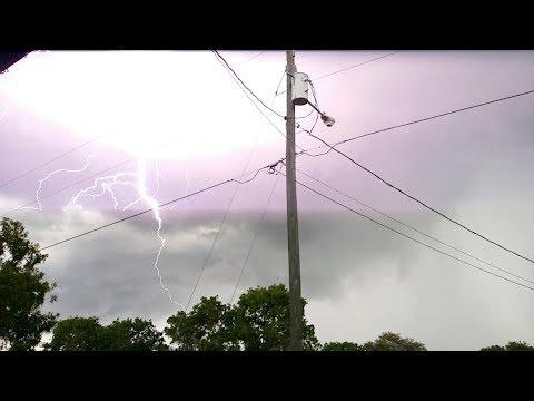 Watch: Dangerous Top Lightning Strikes (USA) UP CLOSE 2017 Compilation
