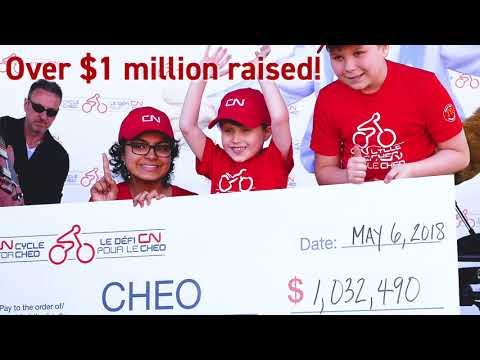 CN Cycle for CHEO 2018 - Thank You!