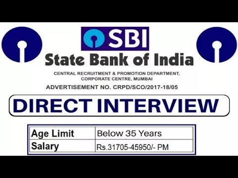 SBI-state bank of India l recruitment-2017/2018 l govt.bank jobs