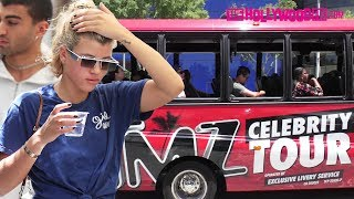 Sofia Richie Gets Trapped By The TMZ Tour Bus While Showing Off Her Loyalty Tattoo 6.16.17