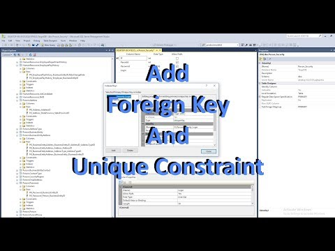 SSMS Create Table, Foreign Keys And Unique Constraints