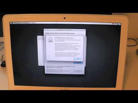 Admin Passwort zurücksetzen/umgehen - OSX 10.7 oder neuer [GERMAN][HD]