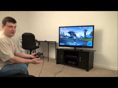 SWTOR with Xbox 360 controller and TV