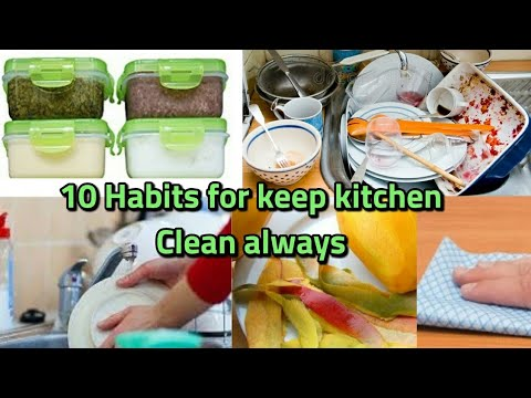 10 Habits for Keep Your Kitchen Clean in Hindi || How to keep Kitchen Clean always || kitchen tips