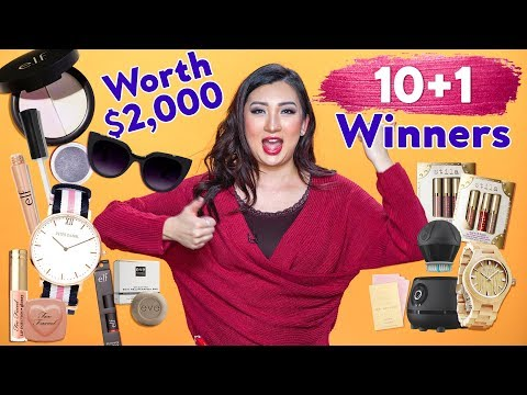 GIVEAWAY - $2,000 Makeup & Skin Care - ONE MILLION Subscribers!! (10+1 Winners)