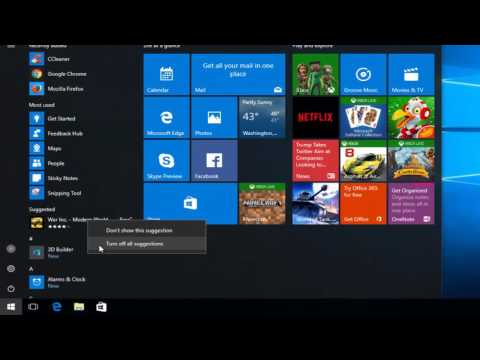 Windows 10 - How To Turn Off App Suggestions In Start Menu