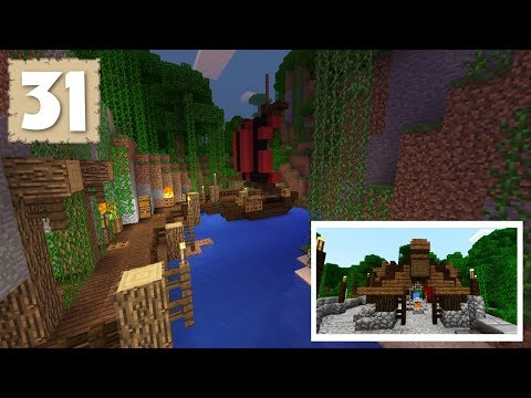 FISHING BOAT & MEAT GAZEBO MAKEOVER! - Survival Let's Play Ep. 31 - Minecraft 1.2.9