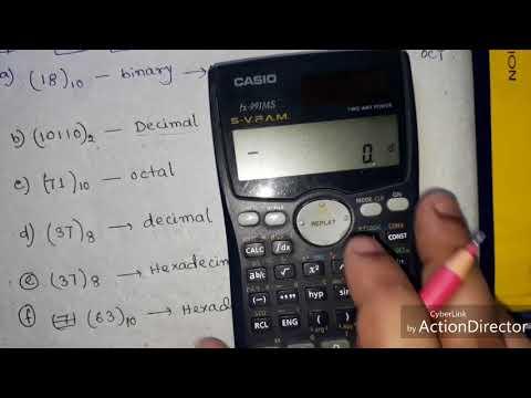 Binary,Decimal,Octal & Hexadecimal conversion using Calculator