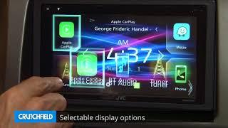 JVC KW-M740BT Display and Controls Demo   Crutchfield Video