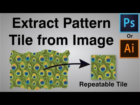 How to create Seamless Pattern Swatch from Photo in Photoshop or Illustrator
