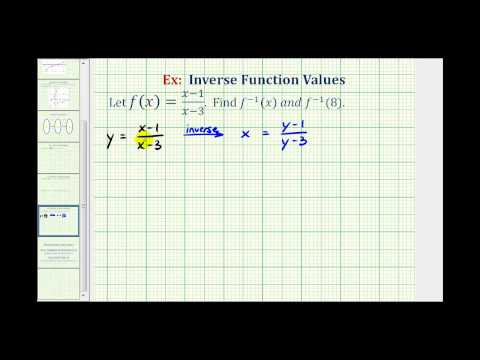 Ex:  Find the Inverse of a Rational Function and an Inverse Function Value