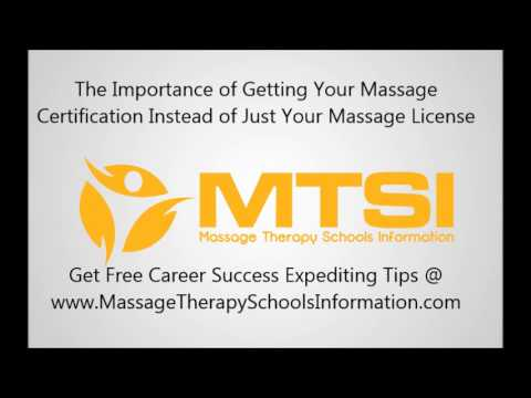 Difference Between Massage Certification and Massage License - Which is More Important?