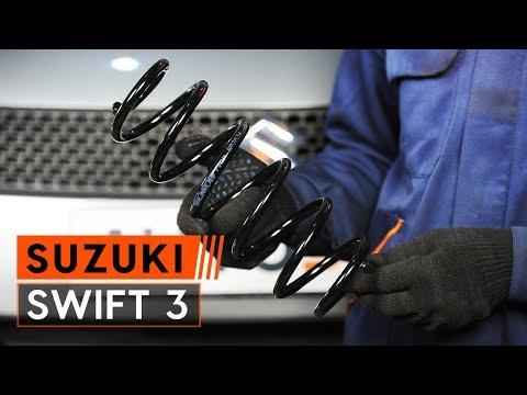 How to replace rear springs onSUZUKI SWIFT 3[TUTORIAL AUTODOC]