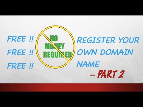 FREE !! How to register Domain Name (website name) - Part 2