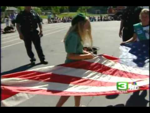 How to Dispose of Old US Flags  KCRA NBC3  6pm  Sac, CA  06 14 2011