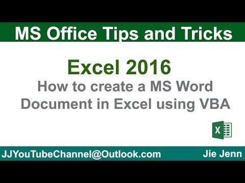 How to Create Word Document using Excel VBA   Excel VBA Tutorial