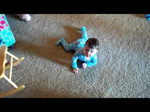 9 month old girl with Cerebral Palsy (CP) learning to crawl!