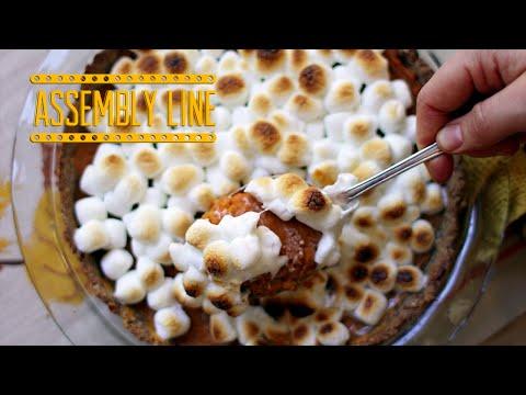 Sweet Potato Casserole Pie | Assembly Line