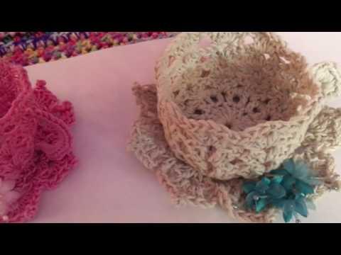 Crochet teacups share