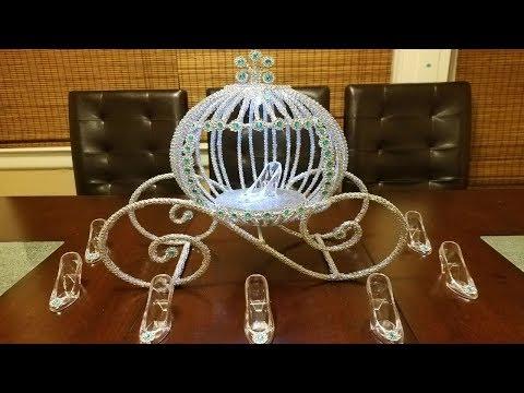 Cinderella Carriage Centerpiece | Princess carriage centerpiece