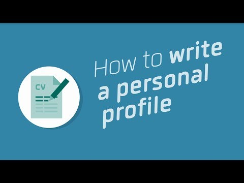How to write a personal profile - Workindenmark
