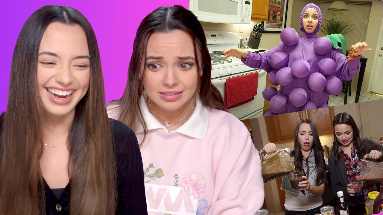 Roasting Ourselves Watching Our Old Videos - Merrell Twins