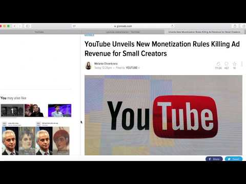 New YouTube policy hurting small channels, content creators