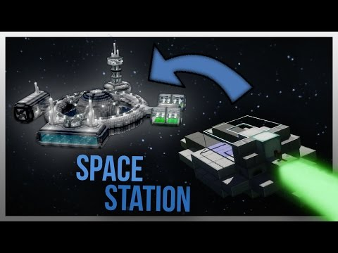 TRAVELLING TO A SPACE STATION IN MINECRAFT!