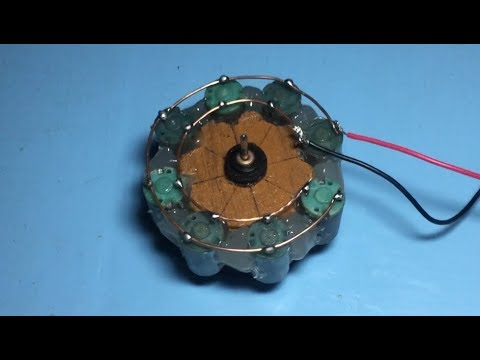 Experiment 8 motors combination to a big and strong motor