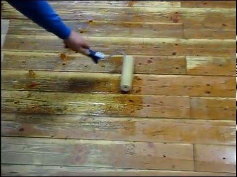 Painting roller wooden floor