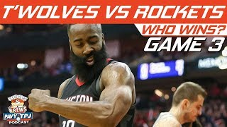 Houston Rockets vs Minnesota Timberwolves | Game 3 | Who will win ? | Hoops N Brews