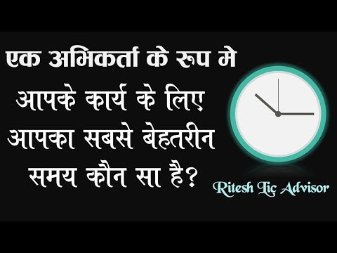 What is the best time of an LIC agent By: Ritesh Lic Advisor