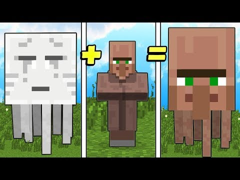HOW TO COMBINE ANY MOB IN MINECRAFT?!