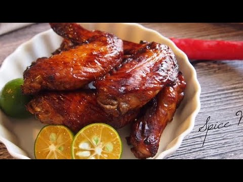 QUICK & EASY AIR FRIED / Oven Baked Honey BBQ Chicken Wings Recipe
