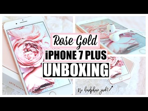iPhone 7 Plus Unboxing and Review Rose Gold 256 GB! + NEW Cases
