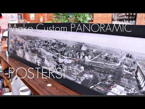 Make Custom PANORAMIC Posters / Frame! - EzPrints - Review