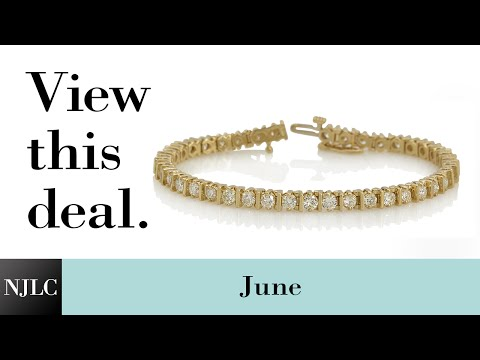 Deal of the Month: Yellow Gold Diamond Tennis Bracelet