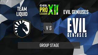 CS:GO - Team Liquid vs. Evil Geniuses [Mirage] Map 1 - ESL Pro League Season 12 - Group Stage - NA