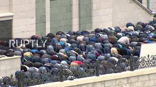 Russia: Thousands of Muslims pray at Moscow Cathedral Mosque on Eid al-Fitr