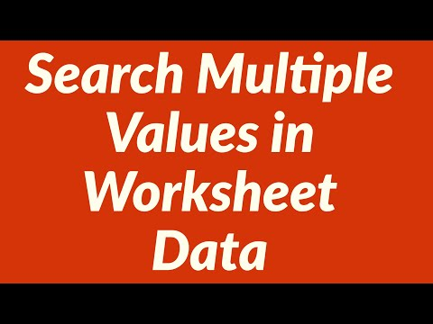 Search Multiple Values in Worksheet Data