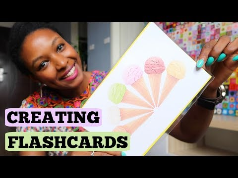 How To Create Flashcards for Teaching | charlycheer | Language Learning
