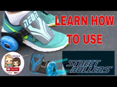 Learn How to use The Neon Street Rollers Tutorial & Unboxing light up kids roller skates