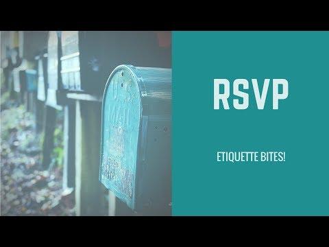 Etiquette Bites! RSVP