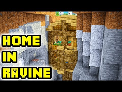 Minecraft: Advanced Ravine House Build Tutorial