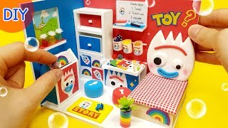 DIY Miniature Dollhouse  - Toystory4 FORKY room decor !